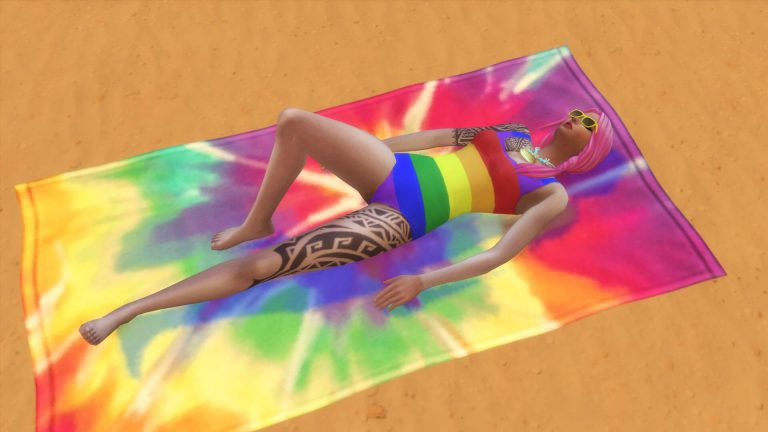 Quick tips about Sunbathing in The Sims 4 Island Living
