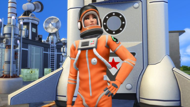 Reach for the stars as an Astronaut in The Sims 4