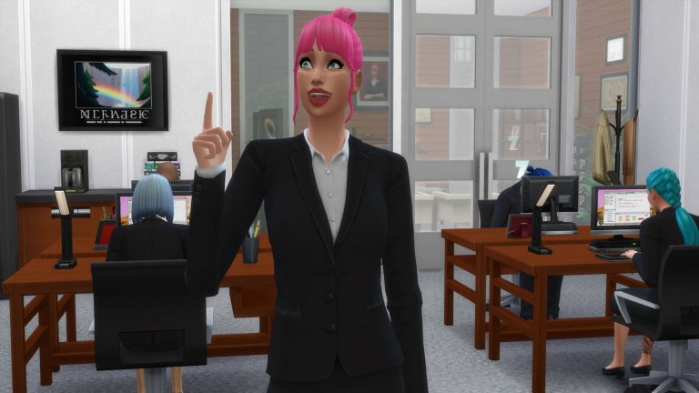 Work till you drop as a Salaryperson in The Sims 4 Snowy Escape