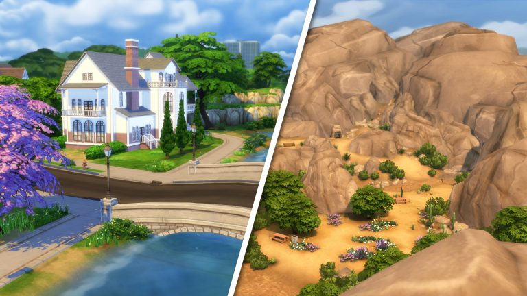 The two worlds of The Sims 4